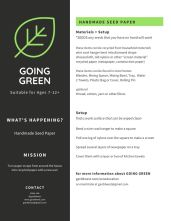 Garddwest GOING GREEN - Handmade Seed Paper - pg 1