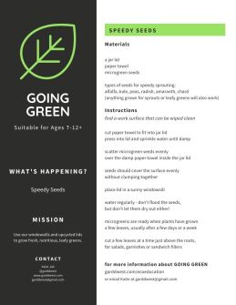 Garddwest GOING GREEN - Speedy Seeds - pg 1