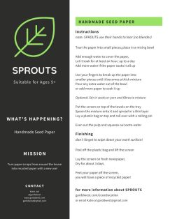 Garddwest SPROUTS - Handmade Seed Paper - pg 2