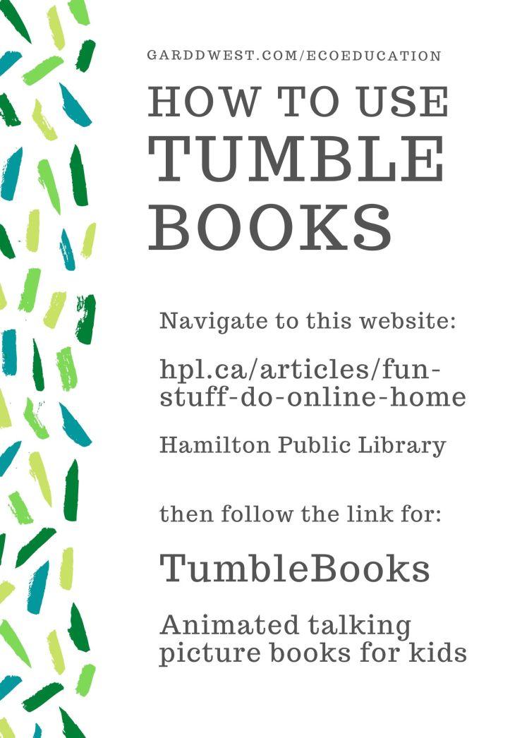TumbleBooks HowTo - Garddwest EcoEducation (1)